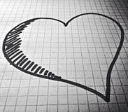Liebe auf Papier Stockbild