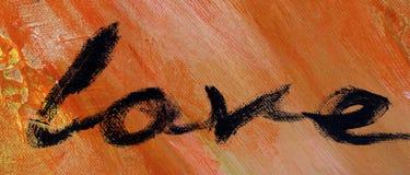 Liebe auf rotem abstraktem Hintergrund Lizenzfreie Stockbilder