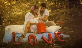 Liebe, das Geschenk ist wunderbar stockfotografie