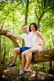Liebe - Datum am Baum Stockfoto