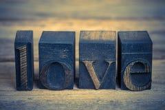 Liebe in den Druckstöcken Stockbilder