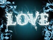 Liebe in den Flammen Stockbild