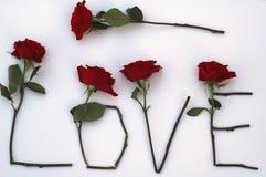 Liebe in den Rosen Stockbild