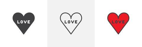 Liebe in den verschiedenen Artikonen des Herzens Lizenzfreie Stockbilder