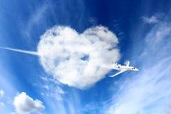 Liebe in den Wolken Stockbild