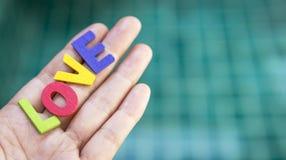 Liebe in der Hand Lizenzfreies Stockbild