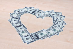 Liebe des Geldes Lizenzfreie Stockfotos