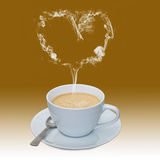 Liebe des Kaffees lizenzfreie stockfotos