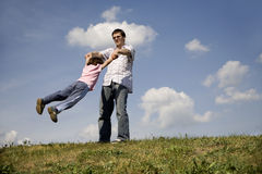 Liebe des Vaters und des Kindes Stockbild