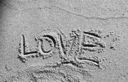 Liebe durch den Ozean stockfoto