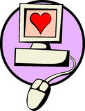 Liebe durch Internet Stock Abbildung