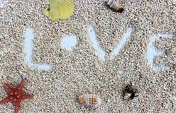 Liebe durchaus auf dem Strand Stockfoto