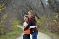 Liebe an einem Herbsttag Lizenzfreie Stockfotografie