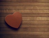 Liebe in einem Kasten Stockbild
