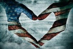 Liebe für Amerika stockbild
