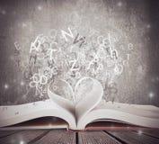 Liebe für Buch Lizenzfreies Stockbild