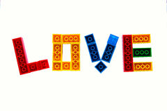 Liebe fasst lego ab Lizenzfreies Stockfoto