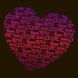 Liebe in Form des Herzens Glücklicher Valentinsgruß ` s Tag, am 14. Februar Stockfotografie