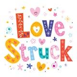Liebe geschlagen Stockfoto
