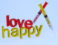 Liebe glücklich Lizenzfreies Stockbild