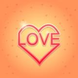 LIEBE glückliche Valentinsgrußtageskarte Vektor Abbildung