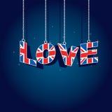 Liebe Großbritannien Stockbild