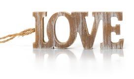 Liebe, hölzerne Alphabet-Buchstaben Stockfotos