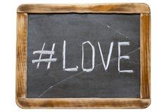 Liebe hashtag Franc Lizenzfreie Stockfotos