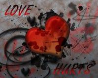 Liebe Hurts Stockbild