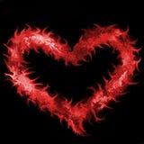 Liebe im Feuer Stockbild