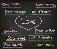 Liebe im Herzen Lizenzfreies Stockfoto