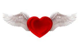 Liebe im Luftisolat auf Weiß Stockfotos
