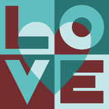 Liebe im Quadrat Stockbild
