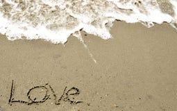 Liebe im Sand Lizenzfreie Stockbilder