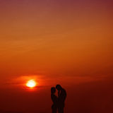 Liebe im Sonnenuntergang Lizenzfreie Stockbilder