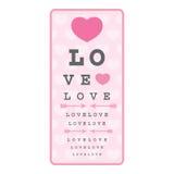 Liebe ist - Abbildung blind Lizenzfreie Stockfotografie