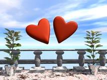 Liebe ist in der Luft Lizenzfreie Stockfotos