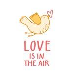 Liebe ist in der Luft Stockfoto