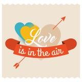 Liebe ist in der Luft Stockfotos