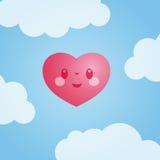 Liebe ist in der Luft - vektorabbildung Stockfoto