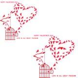 Liebe ist ganz über Freiheit Lizenzfreie Stockbilder