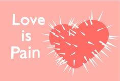 Liebe ist Schmerz lizenzfreie stockfotografie