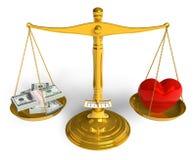 Liebe kann nicht gekauft werden stock abbildung