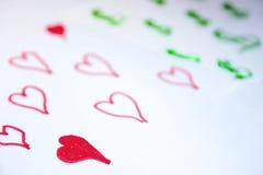 Liebe kommt vor Geld stockfotos
