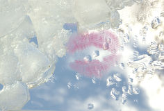 Liebe kuß himmel Eis Wasser Abstraktion Stockfoto