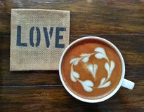 Liebe Latte Stockfotos