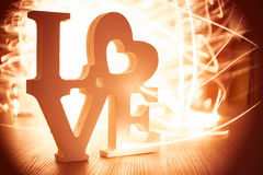 Liebe Lightpainting Stockfoto