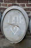Liebe = love, and heart Royalty Free Stock Photos