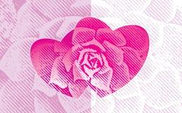 Liebe mit Blumen Stockbilder