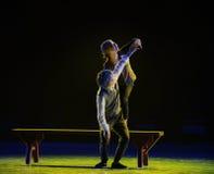 Liebe-moderner Tanz der Dämmerung Lizenzfreie Stockfotografie